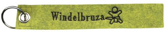 Filz-Schlüsselanhänger mit Stick - WINDELBRUZA - Gr. ca. 17x3cm - 14009 - Keyholder