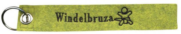 Filz-Schlüsselanhänger mit Stick WINDELBRUZA Gr. ca. 17x3cm 14009 Keyholder grün