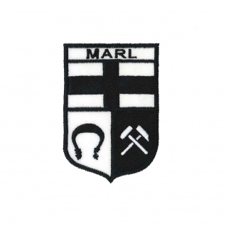 Aufnäher Patches Wappen Marl Gr. ca. 6, 5 x 9, 5 cm 01672