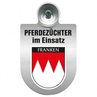 Einsatzschild Windschutzscheibe incl. Saugnapf - Pferdezüchter im Einsatz - 309389 Region Franken
