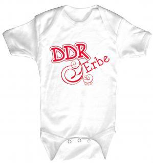 Babystrampler mit Print ? DDR Erbe ? 08388 weiß - 6-12 Monate