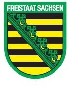 Bügeltransfer für Ihre Kleidung oder Maske - schnell und einfach - Wappen FREISTAAT SACHSEN - 406102