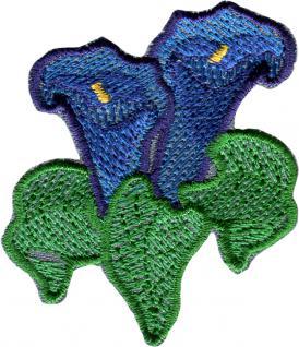 Beanie-Mütze mit Einstickung - BERGBLUMEN - Wollmütze Wintermütze Strickmütze - 54816 schwarz