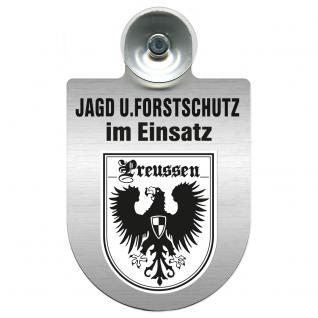 Einsatzschild für Windschutzscheibe incl. Saugnapf - Jagd + Forstschutz im Einsatz - 309729-19 Region Preussen