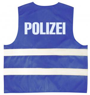 Warnweste mit Aufdruck - POLIZEI - 11559 blau 3XL