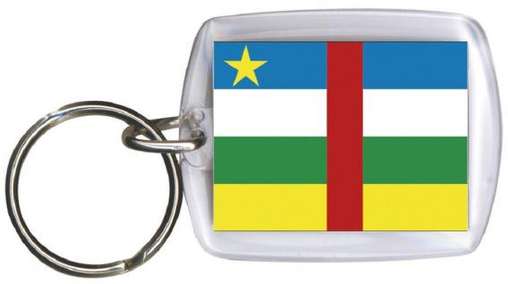 Schlüsselanhänger Anhänger - ZENTRALAFRIKA - Gr. ca. 4x5cm - 81187 - Keyholder WM Länder