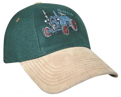 Baseballcap mit Stick - Bulldog Traktor - 68122 grün-beige