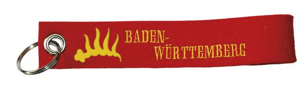 Filz-Schlüsselanhänger mit Stick Baden-Württemberg Gr. ca. 17x3cm 14195 rot