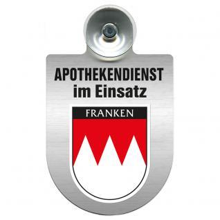 Einsatzschild Windschutzscheibe incl. Saugnapf - Apothekendienst im Einsatz - 309397-18 Region Franken