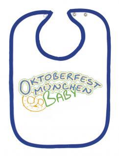Baby-Lätzchen - Druckmotiv Oktoberfest München - 08455 - weiß