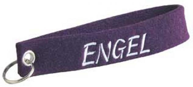 Filz-Schlüsselanhänger mit Stick Engel Gr. ca. 17x3cm 14260 violett