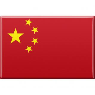 Küchenmagnet - Länderflagge China - Gr.ca. 8x5, 5 cm - 38027 - Magnet