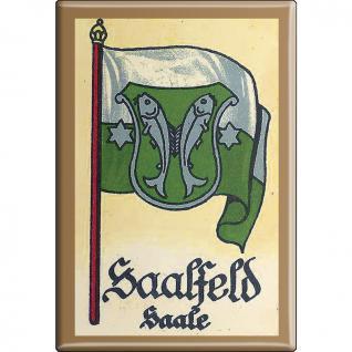 Küchenmagnet - Wappen Saalfeld - Gr. ca. 8 x 5, 5 cm - 37546 - Magnet Kühlschrankmagnet
