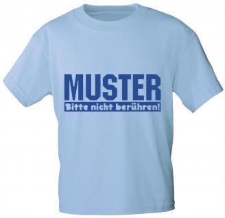 Kinder-T-Shirt mit Print - Muster - bitte nicht berühren - 06941 hellblau - Gr. 122/128