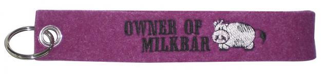 Filz-Schlüsselanhänger mit Stick - Owner of Milkbar - Gr. ca. 17x3cm - 14085
