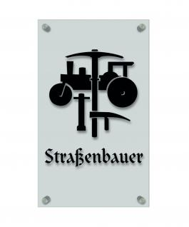 Zunftschild Handwerkerschild - Straßenbauer - beschriftet auf edler Acryl-Kunststoff-Platte ? 309417 schwarz