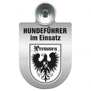 Einsatzschild Windschutzscheibe incl. Saugnapf - Hundeführer im Einsatz - 309381-19 - Region Preussen