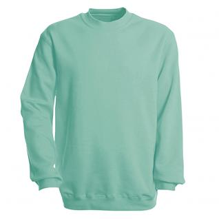 Sweat-Shirt unisex ohne Print in 14 farben Gr. S-XXL 41375 S / mint