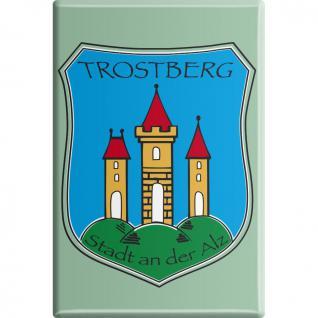 Küchenmagnet - Trostberg an der Alz - Gr. ca. 8 x 5, 5 cm - 38787 - Magnet Kühlschrankmagnet