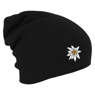 Longbeanie Slouch-Beanie Wintermütze Edelweiss 54822 schwarz