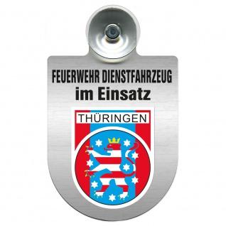 Einsatzschild Windschutzscheibe incl. Saugnapf - Feuerwehr Dienstfahrzeug im Einsatz - 393801 - incl. Regionen nach Wahl Region Thüringen