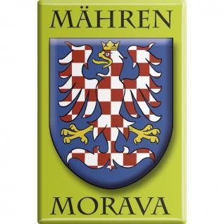 Kühlschrankmagnet - Wappen Mähren - Gr. ca. 8 x 5, 5 cm - 38104 - Küchenmagnet