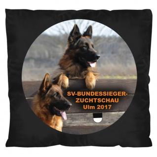 Kissen mit Print - Schäferhundmesse Ulm 2017 - 11665 schwarz