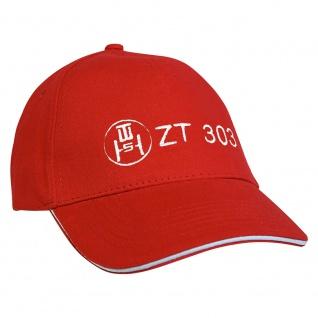 Baseballcap mit Einstickung ZT 303 - 69382 versch. Farben rot