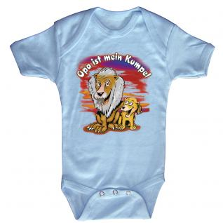 Babystrampler mit Print - Opa ist mein Kumpel - 08315 versch. Farben Gr. hellblau / 0-6 Monate