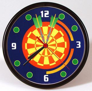 Wanduhr - Uhr - Clock - batteriebetrieben - Dartscheibe - Größe ca 22 cm - 56816