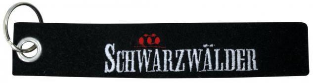 Filz-Schlüsselanhänger mit Stick Schwarzwälder Gr. ca. 17x3cm 14174 schwarz