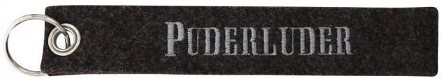 Filz-Schlüsselanhänger mit Stick PUDERLUDER Gr. ca. 17x3cm 14134 Keyholder schwarz
