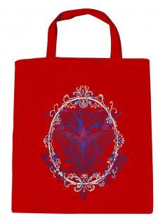 (U09582)Umweltfreundliche Baumwoll - Tasche , ca. 28 x 43 cm mit Aufdruck in 7 Farben rot