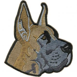 Aufnäher - Hundekopf - 04529 - Gr. ca. 8 x 9 cm - Patches Stick Applikation
