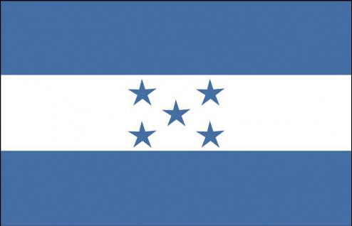 Autoscheibenflagge - Honduras - Gr. ca. 40x30cm - 78063 - Flagge Dekofahne Autoländerfahne