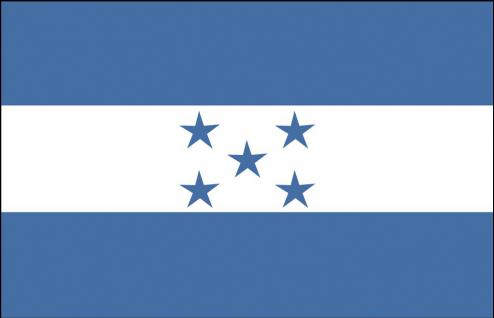 Länderfahne Stockländerfahne - Honduras - Gr. ca. 40x30cm - 77063 - Schwenkflagge