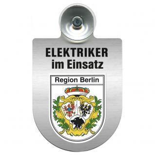 Einsatzschild für Windschutzscheibe incl. Saugnapf - Elektriker im Einsatz - 309489-14 Region Berlin