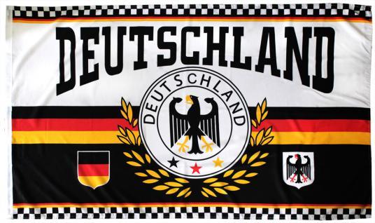 Fanflagge - DEUTSCHLAND ADLER - Gr. 150cm x 90cm - 07934 - Jumboflagge Deko-Länderfahne