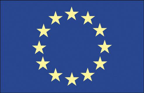 Auto-Flagge - Europa - Gr. ca. 40x30cm - 78048 - Flagge mit Klemmstab - Fahne Autoländerfahne
