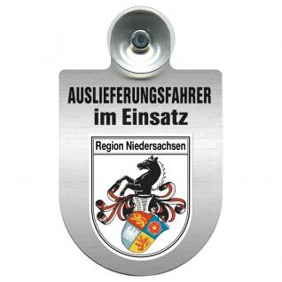 Einsatzschild Windschutzscheibe incl. Saugnapf - Auslieferungsfahrer im Einsatz - 309365 Region Niedersachsen
