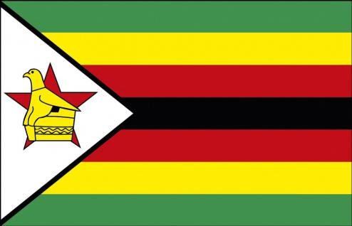 Stockländerfahne - Simbabwe - Gr. ca. 40x30cm - 77149 - Länderflagge, Dekofahne
