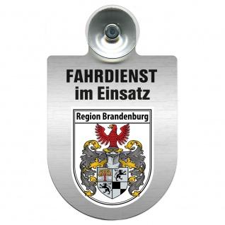 Einsatzschild Windschutzscheibe incl. Saugnapf - Fahrdienst im Einsatz - 309458 Region Brandenburg