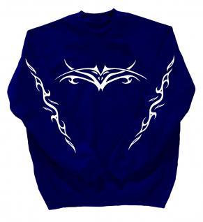 Sweatshirt mit Print - Tattoo - 10120 - versch. farben zur Wahl - Royal / XXL