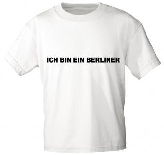 T-Shirt mit Print - Berlin - 06879 weiß - Gr. S