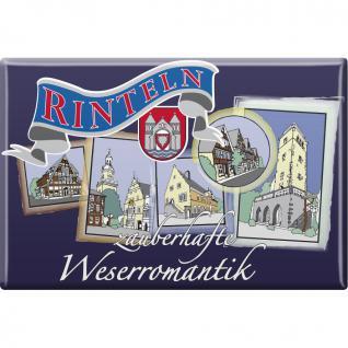 Küchenmagnet - Wasserromantik Rinteln - Gr. ca. 8 x 5, 5 cm - 38786 - Magnet Kühlschrankmagnet