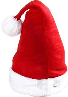 Weihnachtsmütze Nikolausmütze mit Bommel 50382