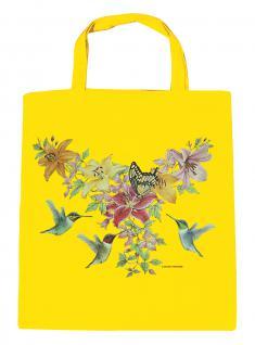 (U06996)Umweltfreundliche Baumwoll - Tasche , ca. 28 x 43 cm mit Aufdruck in 7 Farben gelb