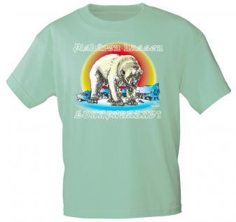 T-Shirt unisex mit Aufdruck - Eisbären hassen Sonnenbrand - 09594 grün - Gr. S-XXL