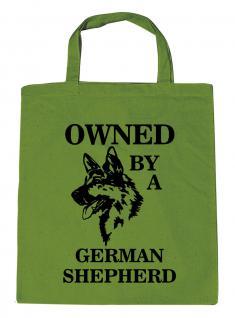Einkaufstasche Shopper - OWNED BY A GERMAN SHEPHERD - 08900 - Baumwolle