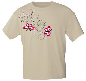 (12853) T- Shirt mit Glitzersteinen Gr. S - XXL in 16 Farben S / beige
